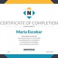 Northstar certificate